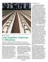 Drip Irrigation Improves N Efficiency