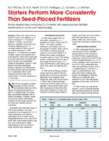Starters Perform More Consistently Than Seed-Placed Fertilizers
