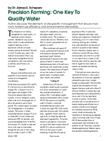 Precision Farming: One Key To Quality Water