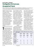 Fertigation Enhances Grapefruit Yield
