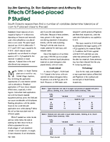 Effects Of Seed-placed P Studied