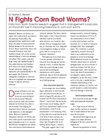 N Fights Corn Root Worms?