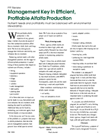 Management Key In Efficient, Profitable Alfalfa Production