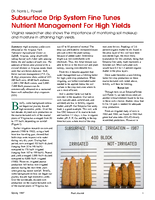Subsurface Drip System Fine Tunes Nutrient Management For High Yields
