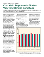 Corn Yield Responses to Starters Vary with Climatic Conditions