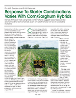Response To Starter Combinations Varies With Corn/Sorghum Hybrids