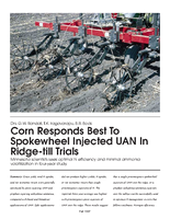 Corn Responds Best To Spokewheel Injected UAN In Ridge-till Trials
