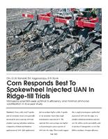 Corn Responds Best To Spokewheel Injected UAN In Ridge-till Trials