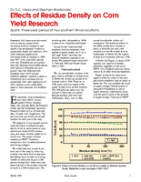 Effects of Residue Density on Corn Yield Research