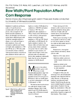 Row Width/Plant Population Affect Corn Response