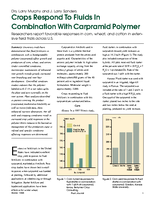 Crops Respond To Fluids In Combination With Carpramid Polymer