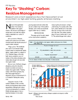 "Key To ""Stashing"" Carbon: Residue Management"