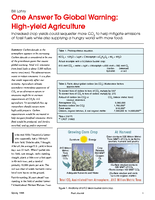 One Answer To Global Warming: High-yield Agriculture
