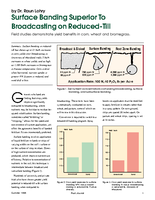 Surface Banding Superior To Broadcasting on Reduced-Till