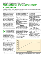 Cotton Starters Showing Potential In Coastal Plain