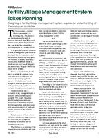 Fertility/tillage Management System Takes Planning