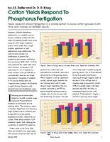 Cotton Yields Respond To Phosphorus Fertigation