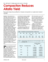 Compaction Reduces Alfalfa Yield