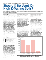 Should K Be Used On High K-Testing Soils?