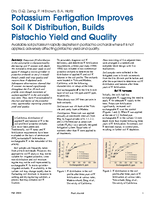Potassium Fertigation Improves Soil K Distribution, Builds Pistachio Yield and Quality