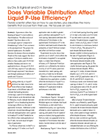 Does Variable Distribution Affect Liquid P-Use Efficiency?