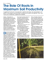 The Role Of Roots In Maximum Soil Productivity