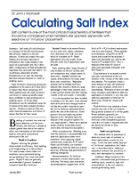 Calculating Salt Index