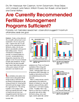 Are Currently Recommended Fertilizer Management Programs Sufficient?