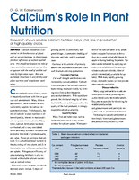 Calcium's Role In Plant Nutrition