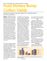 Fluid Starters Bump Cotton Yields