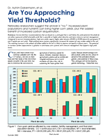 Are You Approaching Yield Thresholds?