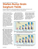 Starters Bump Grain Sorghum Yields