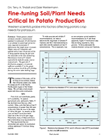Fine-tuning Soil/Plant Needs Critical In Potato Production