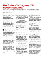How Far Have We Progressed With Precision Agriculture?
