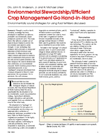Environmental Stewardship/Efficient Crop Management Go Hand-in-Hand