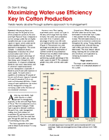 Maximizing Water-use Efficiency Key In Cotton Production