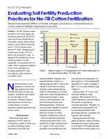 Evaluating Soil Fertility Production Practices for No-Till Cotton Fertilization