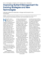 Improving Nutrient Management Via Evolving Strategies and New Technologies
