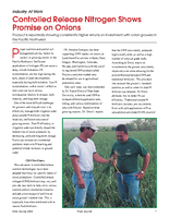 Controlled Release Nitrogen Shows Promise on Onions