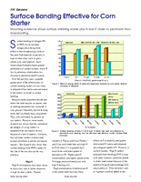 Surface Banding Effective for Corn Starter