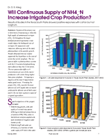 Will Continuous Supply of NH4+-N Increase Irrigated Crop Production?