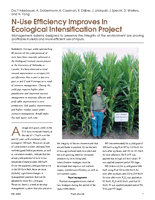 N-Use Efficiency Improves In Ecological Intensification Project