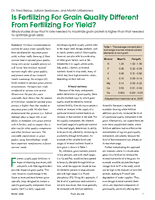 Is Fertilizing For Grain Quality Different From Fertilizing For Yield?