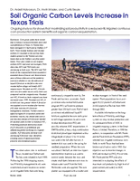 Soil Organic Carbon Levels Increase in Texas Trials