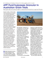 APP Fluid Surpasses Granular In Australian Grain Trials