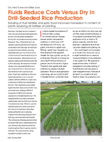 Fluids Reduce Costs Versus Dry In Drill-Seeded Rice Production