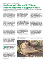 Starter Applications of APP Show Positive Response in Sugarbeet Trials