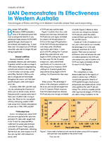 UAN Demonstrates Its Effectiveness In Western Australia