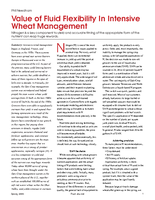 Value of Fluid Flexibility In Intensive Wheat Management