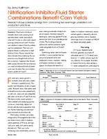 Nitrification Inhibitor/Fluid Starter Combinations Benefit Corn Yields